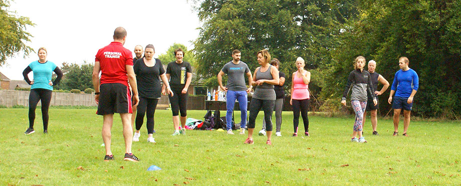 Group Photograph Exercising Knights Fitness