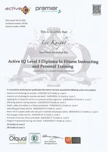 PT Certificate